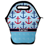 Anchors & Waves Lunch Bag w/ Name or Text