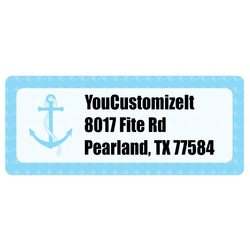 Anchors & Waves Return Address Labels (Personalized)