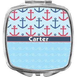 Anchors & Waves Compact Makeup Mirror (Personalized)