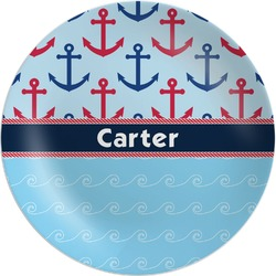 Anchors & Waves Melamine Plate (Personalized)