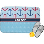 Anchors & Waves Memory Foam Bath Mat (Personalized)