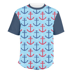 Anchors & Waves Men's Crew T-Shirt (Personalized)
