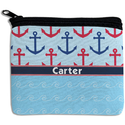 Anchors & Waves Rectangular Coin Purse (Personalized)