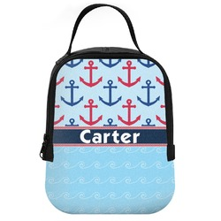 Anchors & Waves Neoprene Lunch Tote (Personalized)