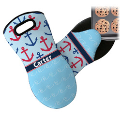 Anchors & Waves Neoprene Oven Mitt (Personalized)