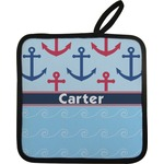 Anchors & Waves Pot Holder w/ Name or Text