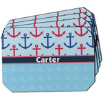 Anchors & Waves Dining Table Mat - Octagon w/ Name or Text