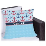 Anchors & Waves Outdoor Pillow (Personalized)