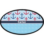 Anchors & Waves Oval Trailer Hitch Cover (Personalized)