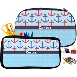 Anchors & Waves Pencil / School Supplies Bag (Personalized)