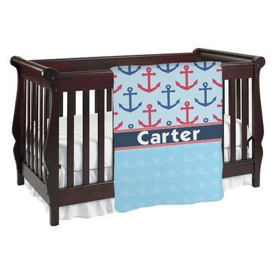 Anchors & Waves Baby Blanket (Personalized)