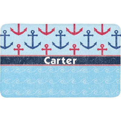 Anchors & Waves Bath Mat (Personalized)