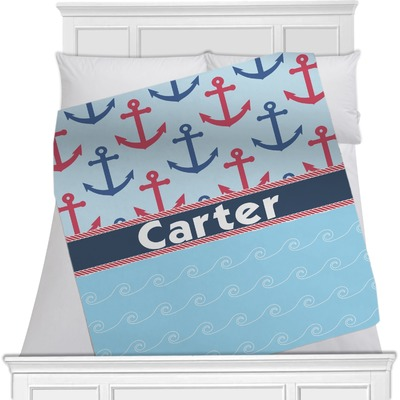 Anchors & Waves Minky Blanket (Personalized)
