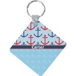 Anchors & Waves Diamond Key Chain (Personalized)