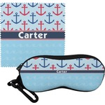 Anchors & Waves Eyeglass Case & Cloth (Personalized)