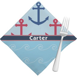Anchors & Waves Cloth Napkins (Set of 4) (Personalized)
