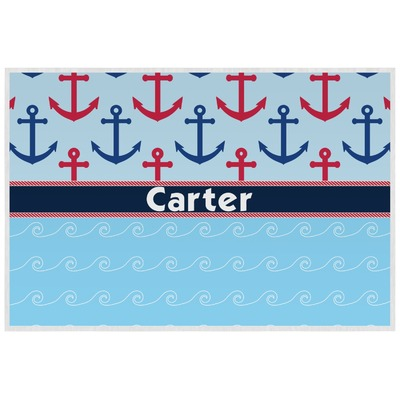 Anchors & Waves Laminated Placemat w/ Name or Text