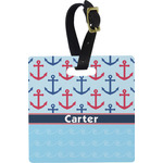 Anchors & Waves Square Luggage Tag (Personalized)