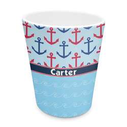 Anchors & Waves Plastic Tumbler 6oz (Personalized)