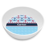 Anchors & Waves Melamine Bowl 8oz (Personalized)