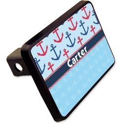 "Anchors & Waves Rectangular Trailer Hitch Cover - 2"" (Personalized)"
