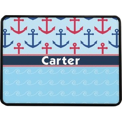 Anchors & Waves Rectangular Trailer Hitch Cover (Personalized)