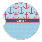 Anchors & Waves Sandstone Car Coasters (Personalized)