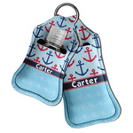 Anchors & Waves Hand Sanitizer & Keychain Holder (Personalized)