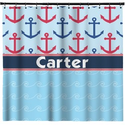 Anchors & Waves Shower Curtain (Personalized)
