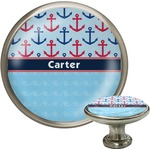 Anchors & Waves Cabinet Knob (Silver) (Personalized)