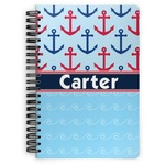 Anchors & Waves Spiral Bound Notebook (Personalized)