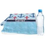 Anchors & Waves Sports & Fitness Towel (Personalized)