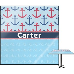 "Anchors & Waves Square Table Top - 30"" (Personalized)"