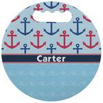 Anchors & Waves Stadium Cushion (Round) (Personalized)