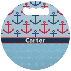 Anchors & Waves Stadium Cushion (Round) (Personalized)