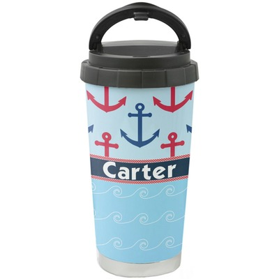 Anchors & Waves Stainless Steel Coffee Tumbler (Personalized)