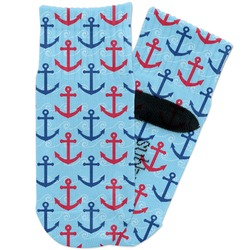 Anchors & Waves Toddler Ankle Socks (Personalized)