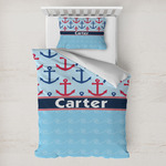 Anchors & Waves Toddler Bedding w/ Name or Text