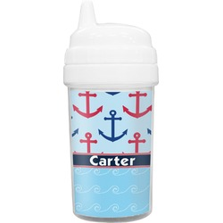 Anchors & Waves Toddler Sippy Cup (Personalized)