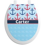 Anchors & Waves Toilet Seat Decal (Personalized)