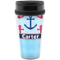 Anchors & Waves Travel Mugs (Personalized)