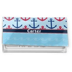 Anchors & Waves Vinyl Checkbook Cover (Personalized)