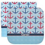Anchors & Waves Facecloth / Wash Cloth (Personalized)