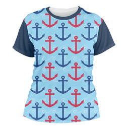 Anchors & Waves Women's Crew T-Shirt (Personalized)