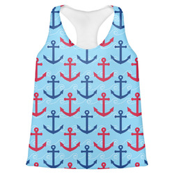 Anchors & Waves Womens Racerback Tank Top (Personalized)