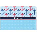 Anchors & Waves Woven Mat (Personalized)
