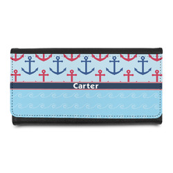 Anchors & Waves Leatherette Ladies Wallet (Personalized)