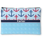 Anchors & Waves Zipper Pouch (Personalized)