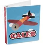 Airplane 3-Ring Binder (Personalized)