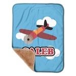 Airplane Sherpa Baby Blanket 30